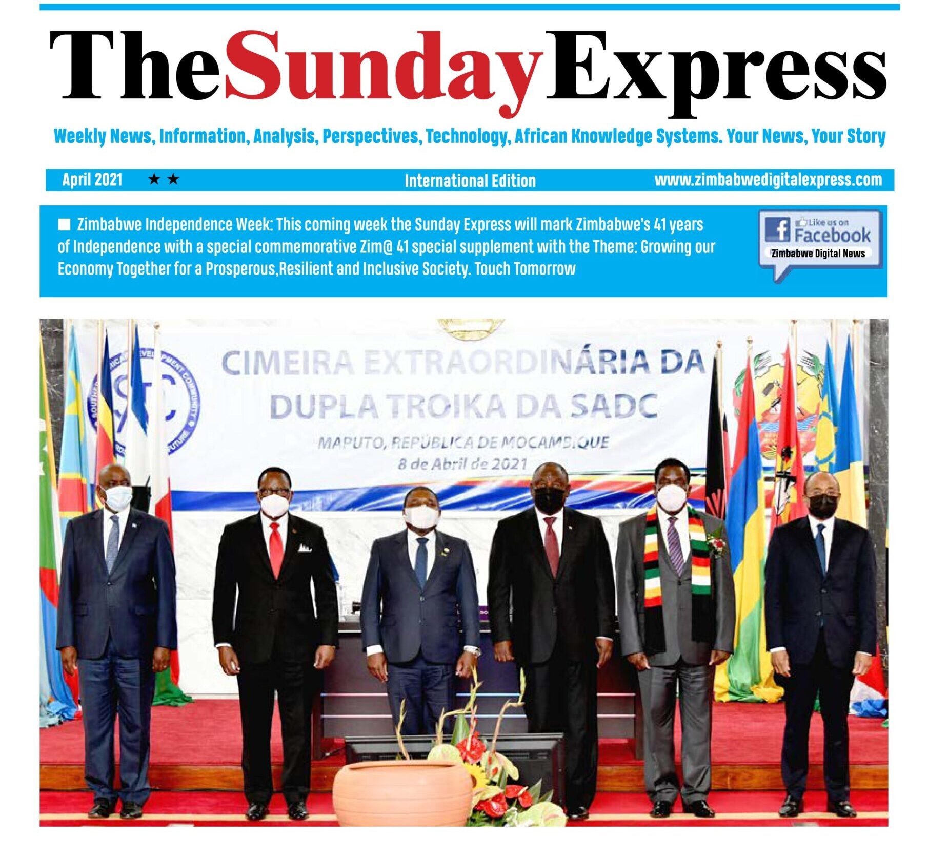 The Sunday Express: April11. SADC Flexes Muscles with Technical Deployment