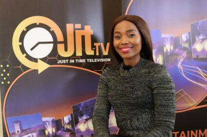 News presenter Thuli Tshabalala joins Jit Television News Bulletin, and has a good story to tell