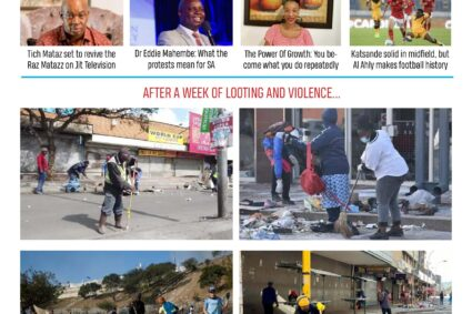 The Sunday Express July18: The Big South African Cleanup